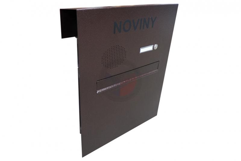 VÝPRODEJ - 1x poštovní schránka A-04 + čelní deska se zvonkem a přípravou pro HM - STAROMĚĎ