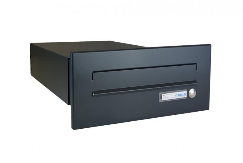 POŠTOVNÍ SCHRÁNKY DO SLOUPKU OPLOCENÍ - 1x poštovní schránka B-042 k zazdění do sloupku + čelní deska se zvonkem ČD-2