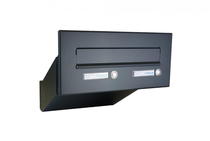 POŠTOVNÍ SCHRÁNKY DO SLOUPKU OPLOCENÍ - 1x poštovní schránka D-041 k zazdění do sloupku + čelní deska s 2x zvonkem ČD-3
