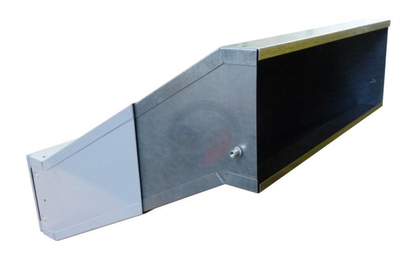 VÝPRODEJ - 1x poštovní schránka D-041 šikmá k zazdění do sloupku - RAL 7040 šedá
