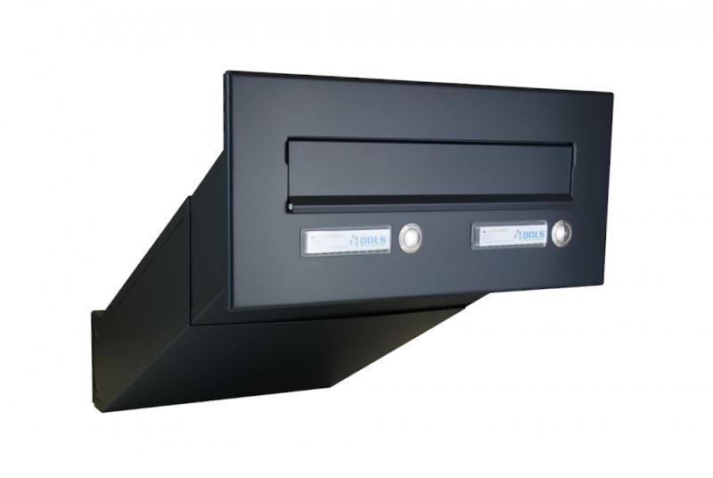 POŠTOVNÍ SCHRÁNKY DO SLOUPKU OPLOCENÍ - 1x poštovní schránka D-042 k zazdění do sloupku + čelní deska s 2x zvonkem ČD-3