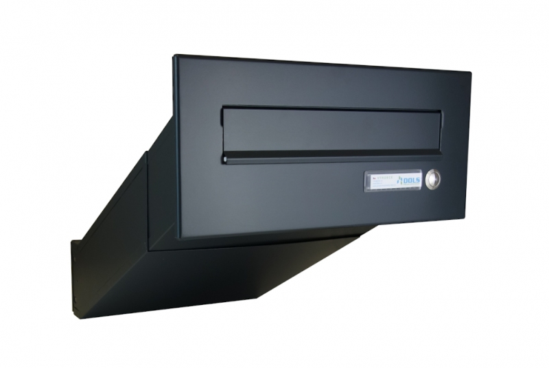 POŠTOVNÍ SCHRÁNKY DO SLOUPKU OPLOCENÍ - 1x poštovní schránka D-042 k zazdění do sloupku + čelní deska se zvonkem ČD-2