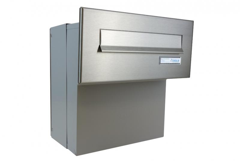 POŠTOVNÍ SCHRÁNKY DO SLOUPKU OPLOCENÍ - 1x poštovní schránka F-041 k zazdění do sloupku + čelní deska se jmenovkou ČD-1 - NEREZ / šedá