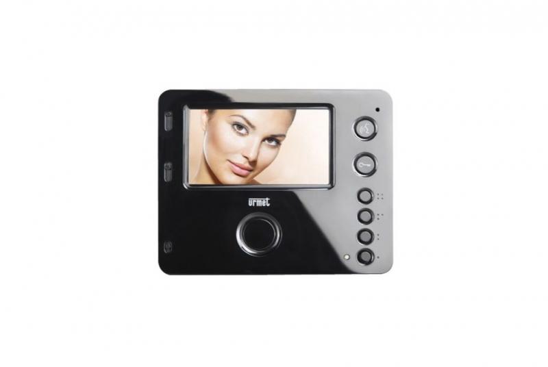 """NÁHRADNÍ DÍLY A DOPLŇKY - 4,3"""" LCD barevný videotelefon URMET MIRO 1750/5 - HANDS-FREE - ČERNÝ"""