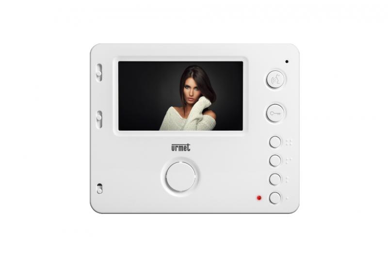 """NÁHRADNÍ DÍLY A DOPLŇKY - 4,3"""" LCD barevný videotelefon URMET MIRO 1750/6 - HANDS-FREE - BÍLÝ"""