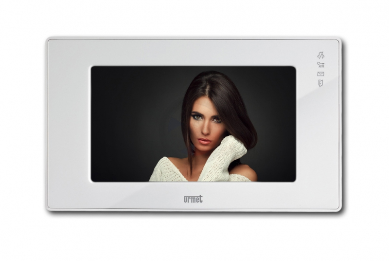 """NÁHRADNÍ DÍLY A DOPLŇKY - 7"""" LCD barevný videotelefon URMET 1717/12H - HANDS-FREE - BÍLÝ"""