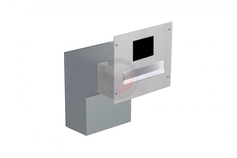 POŠTOVNÍ SCHRÁNKY DO SLOUPKU OPLOCENÍ - 1x poštovní schránka F-046 k zazdění do sloupku + čelní deska s přípravou pro BTICINO - NEREZ