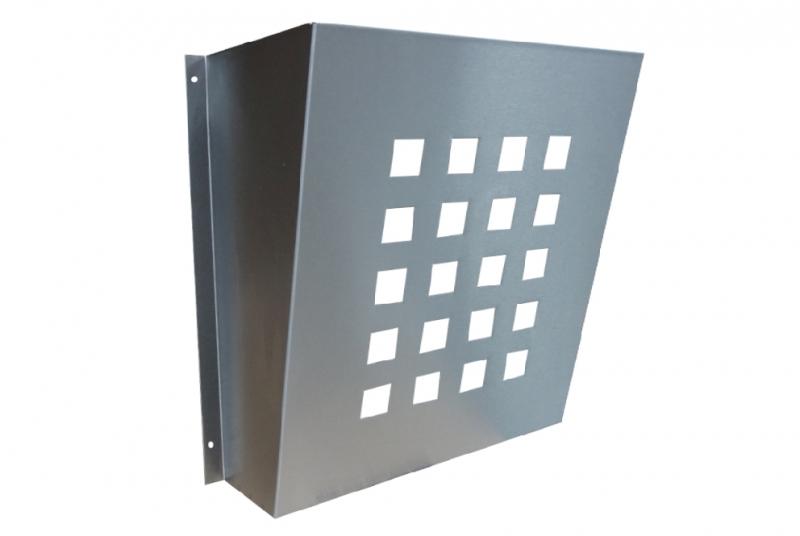 DVEŘNÍ VHOZY - Děrovaný košík k dveřnímu vhozu s protikusem - NEREZ