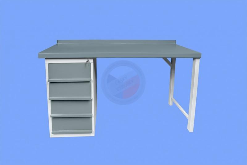 DÍLENSKÉ PRACOVNÍ STOLY - Dílenský pracovní stůl s jednou stolovou skříňkou s šuplíky