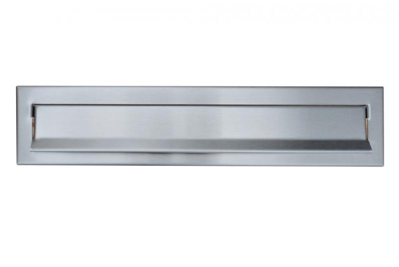DVEŘNÍ VHOZY - Dveřní vhoz 375 mm k uzamykatelné schránce 370x330x100 - NEREZ