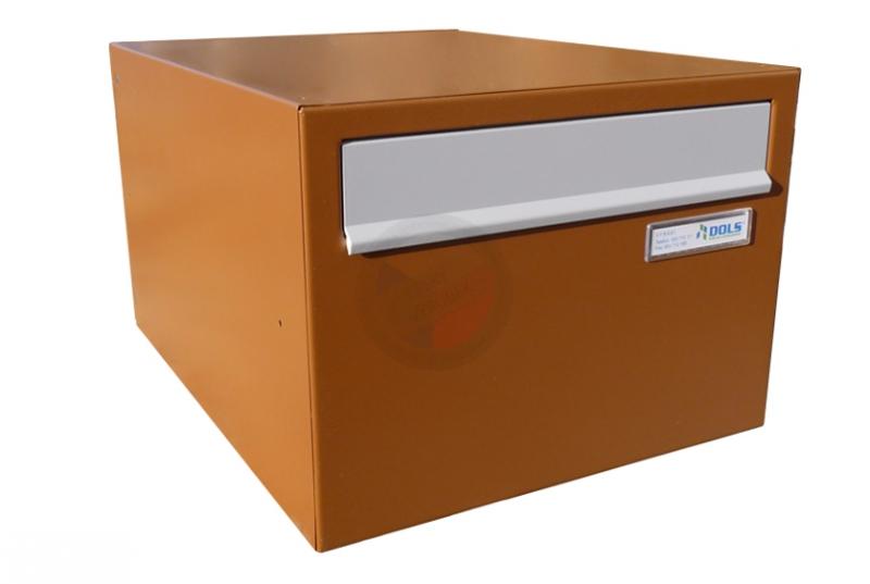 VÝPRODEJ - Poštovní schránka B-22 - RAL 8003 hnědá + sklapka RAL 7035