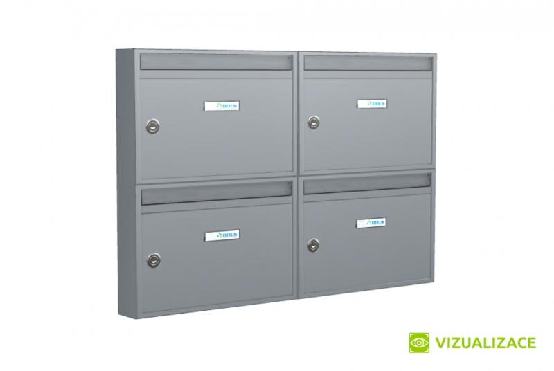 SESTAVY POŠTOVNÍCH SCHRÁNEK - Poštovní schránka E-01 BASIC paneláková - na stěnu - lakovaná
