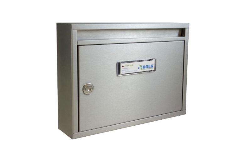 POŠTOVNÍ SCHRÁNKY - Poštovní schránka E-011 s hloubkou 80 mm paneláková - NEREZ
