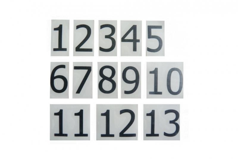 NÁHRADNÍ DÍLY A DOPLŇKY - Samolepící čísla na označení poštovních schránek