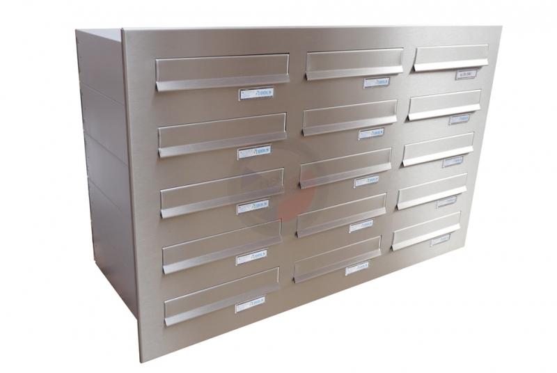 VÝPRODEJ - Sestava (3x5) pro zazdění z 15x B-04 (300x110x385) s ČD 960x610 mm - NEREZ