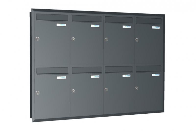 VÝPRODEJ - Sestava (4x2) pro zazdění z 8x C-01 (268x378x100) s L profilem - RAL 7016 antracit matná