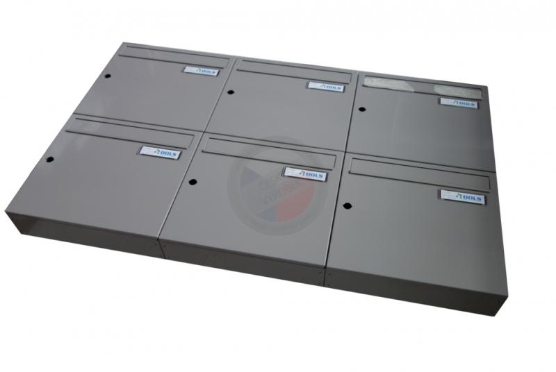 VÝPRODEJ - Sestava poštovních schránek A-01- RAL 7036