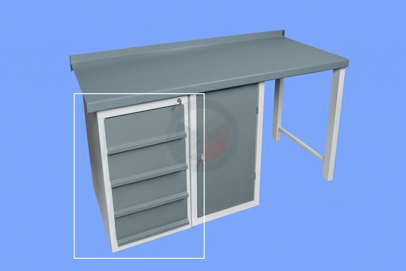 DÍLENSKÉ PRACOVNÍ STOLY - Stolová skříňka dílenského pracovního stolu se šuplíky