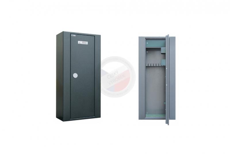 TREZORY A SKŘÍNĚ NA ZBRANĚ - Trezor skříň na zbraně MAXI 10 PME s vnitřní schránkou - s elektronickým zámkem