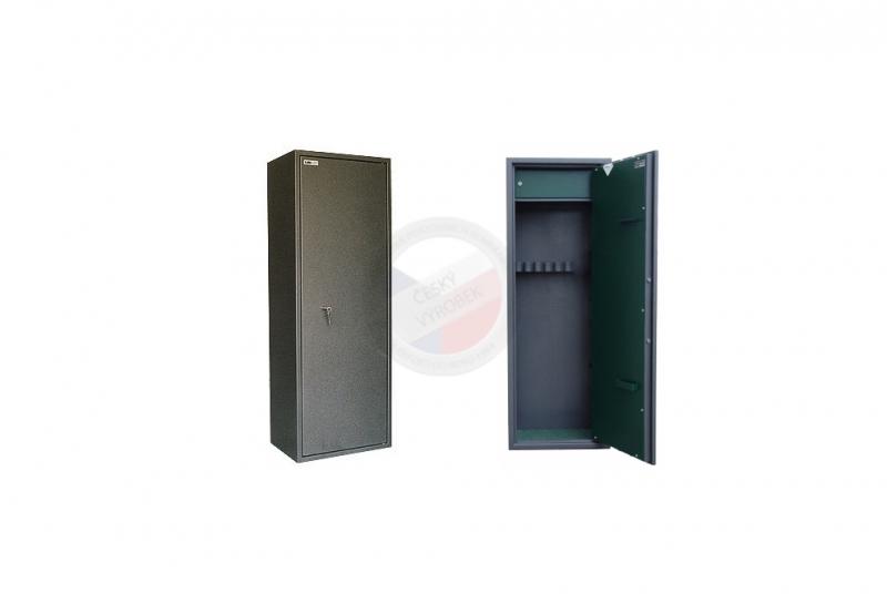 TREZORY A SKŘÍNĚ NA ZBRANĚ - Trezor skříň na zbraně MAXI 5 PM/5 s vnitřní schránkou - s mechanickým zámkem