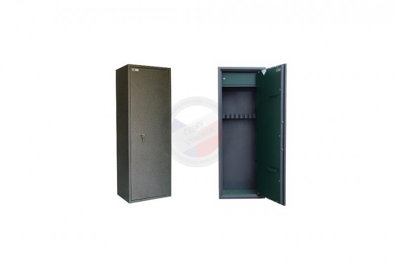 TREZORY A SKŘÍNĚ NA ZBRANĚ - Trezor skříň na zbraně MAXI 5 PM/8 s vnitřní schránkou - s mechanickým zámkem