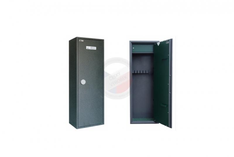 TREZORY A SKŘÍNĚ NA ZBRANĚ - Trezor skříň na zbraně MAXI 5 PME/5 s vnitřní schránkou - s elektronickým zámkem
