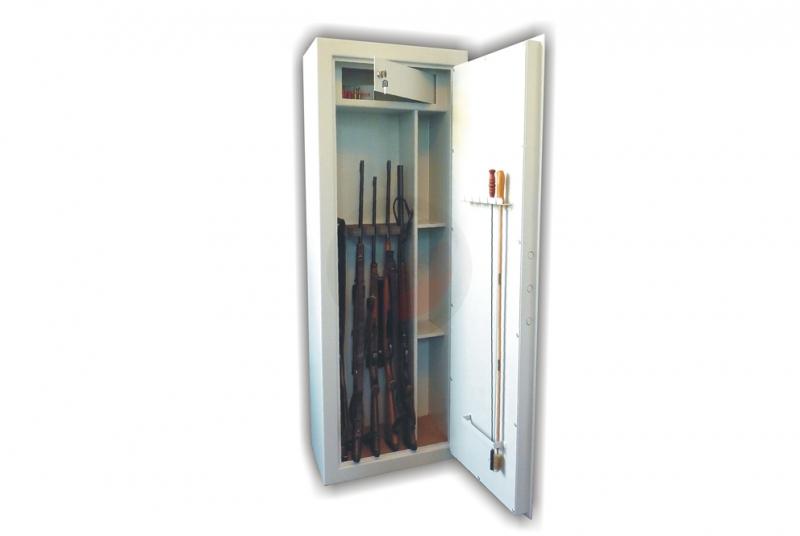 TREZORY A SKŘÍNĚ NA ZBRANĚ - Trezor skříň na zbraně WSB 5 kombi - dvouplášťový s mechanickým zámkem