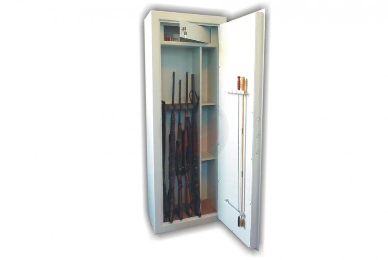 TREZORY A SKŘÍNĚ NA ZBRANĚ - Trezor skříň na zbraně WSB 6 kombi - dvouplášťový s elektronickým zámkem