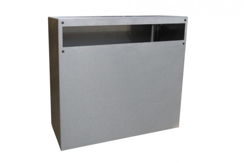 DVEŘNÍ VHOZY - Uzamykatelná schránka 370x330x100 mm ke dveřnímu vhozu - NEREZ