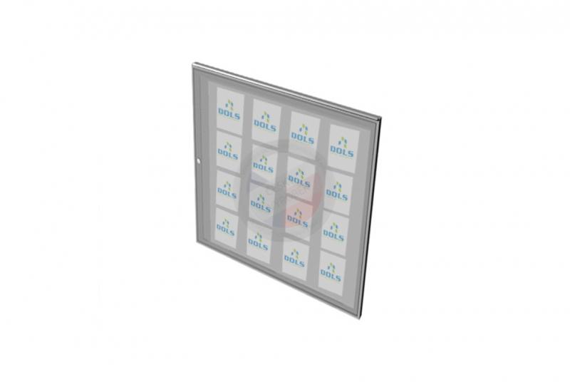 VITRÍNY - NÁSTĚNKY - Vitrína exteriérová DOLS 1000x1250 mm + stříška - RAL standardní