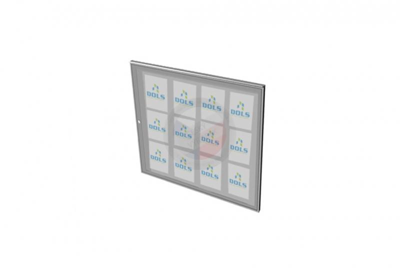 VITRÍNY - NÁSTĚNKY - Vitrína exteriérová DOLS 1000x950 mm + stříška - RAL standardní