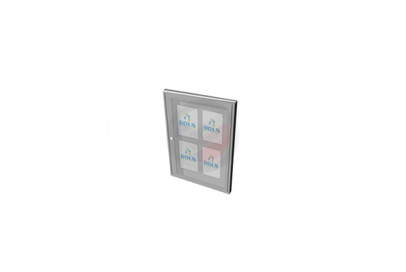 VITRÍNY - NÁSTĚNKY - Vitrína exteriérová DOLS 500x700 mm + stříška - RAL standardní