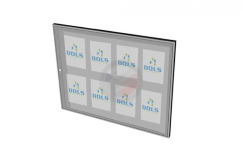 VITRÍNY - NÁSTĚNKY - Vitrína interiérová DOLS 1000x700 mm - RAL standardní