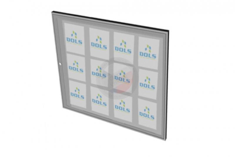 VITRÍNY - NÁSTĚNKY - Vitrína interiérová DOLS 1000x950 mm - RAL standardní