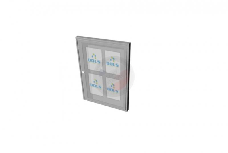 VITRÍNY - NÁSTĚNKY - Vitrína interiérová DOLS 500x700 mm - RAL standardní