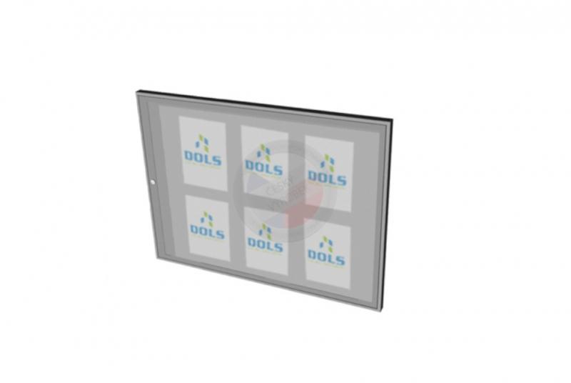 VITRÍNY - NÁSTĚNKY - Vitrína interiérová DOLS 900x600 mm - RAL standardní