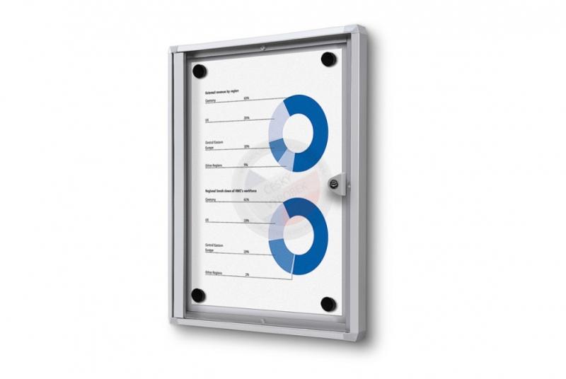 VITRÍNY - NÁSTĚNKY - Vitrína interiérová ECONOMY 271x350 mm - ELOX